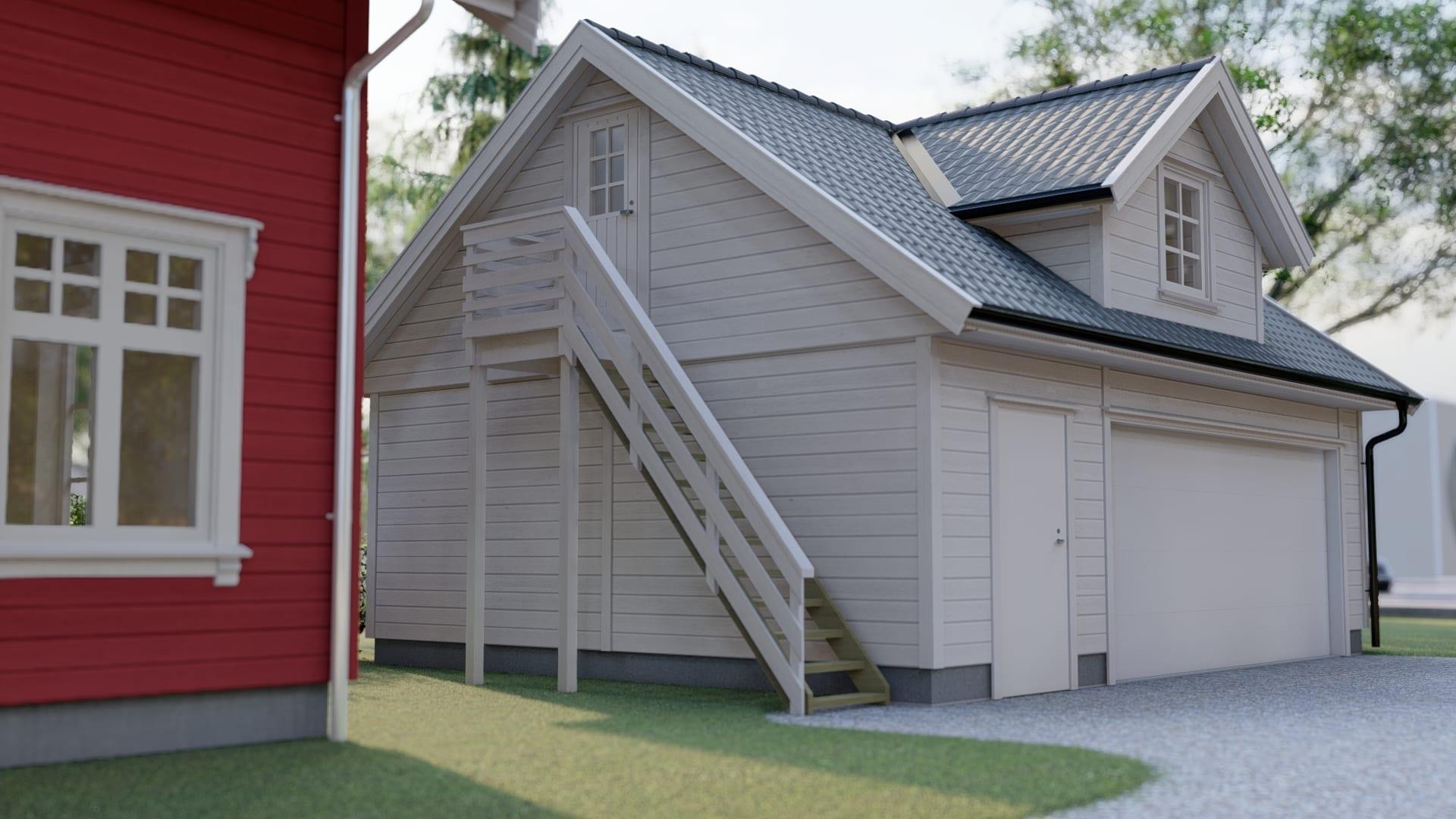 Utvendig trapp garasje